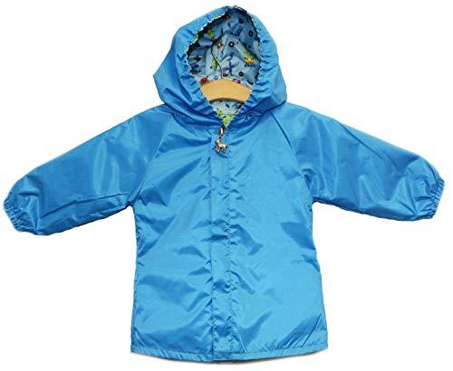 Blue Robot Reversible Raincoat (9-12 Months)