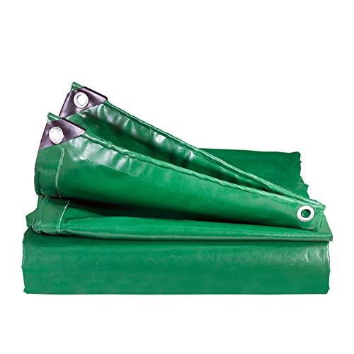 PINBUDA Heavy Duty tarp,Bâche imperméable bâche Voiture Croisière Botte de Foin Anti-déversement-Vert 7 * 7m(23 * 23ft)