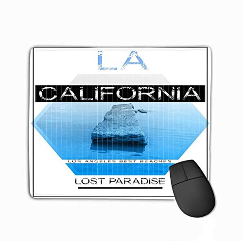 Mousepad Custom Design Gaming Mauspad Gummi Längliche Mausmatte California Photo Print Typografie gra California Photo Print Typografie