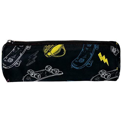 TIZORAX Skateboard Helm en Lightning Pencil Case Pen Rits Tas Coin Organizer make-up kostbare zak voor vrouwen tiener meisjes jongens kinderen