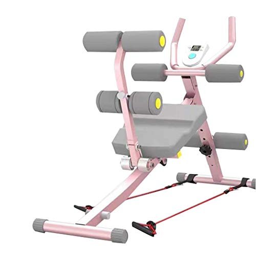 M I A Bauch-Trainer für Zuhause, Bauch-Trainer, Workout-Maschine, Ganzkörper-Körper, höhenverstellbar mit Zähler (Größe 4 in 1)
