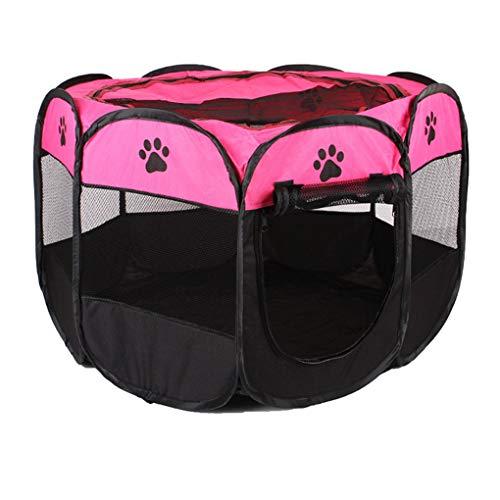 rongweiwang 8 Puntos Carpa portátil para Mascotas Parque Infantil Plegable cajón cajón de la Perrera al Aire Libre al Aire Libre Casa Buey Tela Suave de la Perrera de la Jaula
