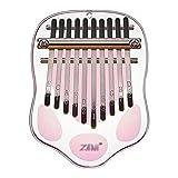Kalimba,Pulgar Piano Dedo Piano 10 Teclas,PequeñO Piano Dedo Dibujos Animados Transparente AcríLico,Instrumentos Musicales Adecuados para Adultos,Estudiantes y Principiantes (Color : Pink)