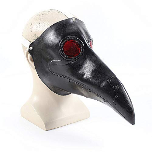 MGMDIAN Máscara de médico de la peste de Halloween, máscaras de látex...