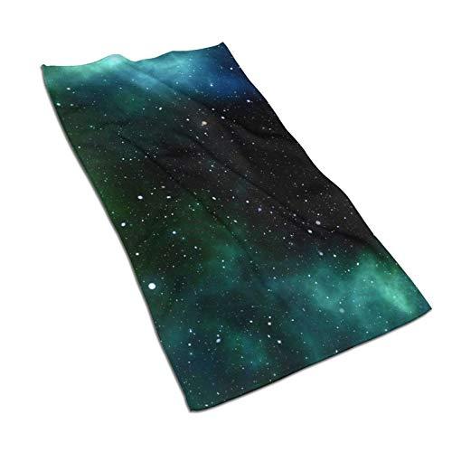 Galaxy Space Universe Toalla de baño de microfibra de 48 x 60 cm, suave, súper absorbente y de secado rápido, uso multiusos para deportes, viajes, fitness, yoga