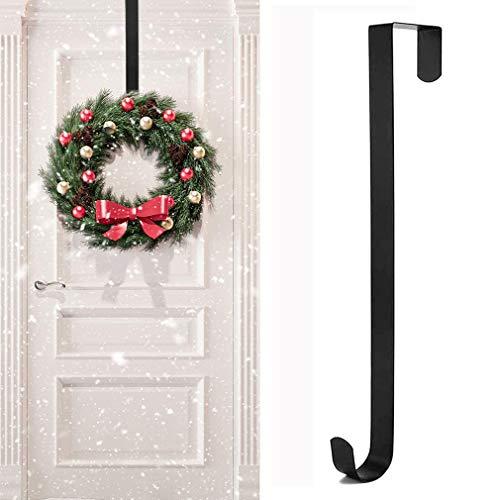 Rorchio Percha para corona de Navidad, 1 paquete de 15 pulgadas para corona de puerta de puerta, con gancho para decoración de corona de Navidad