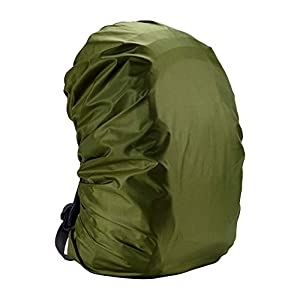 41b8QeVPSZL. SS300  - StyleBest - Funda impermeable para mochila, elástica, ajustable, adecuada para ciclismo y camping, Army Green3., (35L) EU