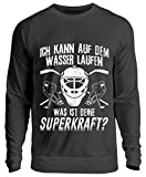 Chorchester Eishockey Spieler Laufen auf Wasser - Unisex Pullover -L-Jet Schwarz