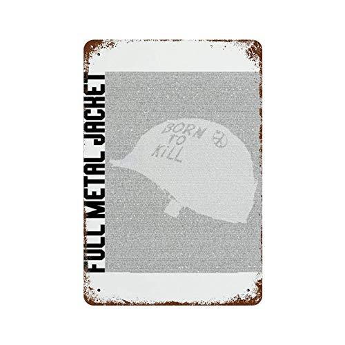 Lámina de metal con diseño de silueta de la chaqueta de la película de la guión de la silueta, mural, de hierro de 11,8 x 7,9 cm, pintura retro de óxido, decoración de letrero de metal para in