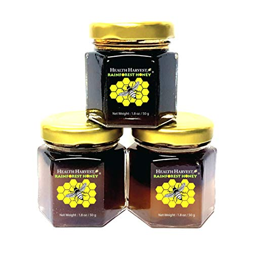 Tualang Honey 1.8oz x 3 Jars (Economy Tasting Pack: Black, Red & Yellow)   Multiple Awards-Winning   Total Activity 6+ to 10+   Pollen 100+   From Tropical Rainforest Heritage of Sumatra