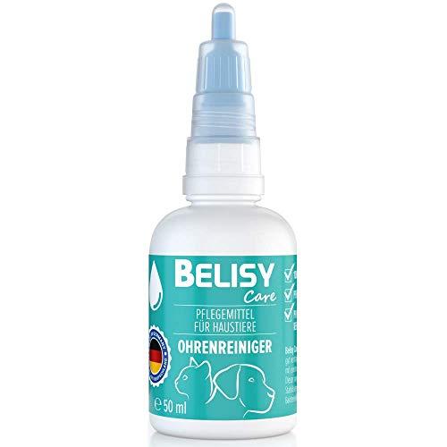 BELISY > Ohrenreiniger < für Hunde, Katzen & Kleintiere - 50 mL - 100% natürliches Ohrpflegeöl - Ohrentropfen gegen Juckreiz, Entzündungen & Milben - ohne Alkohol
