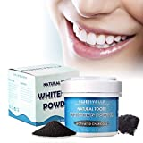 Natural Tooth Powders,50g Activated Charcoal Whitens, Re-Mineralizes, Strengthens Teeth Whitening Remineralizing Tooth Powder