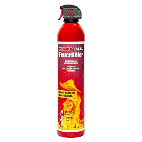 FeuerKiller von Premium-Seal 500ml, Feuerlöschspray für PKW Brände & Wohnungsbrände, Feuerlöscher Auto Camping Boote