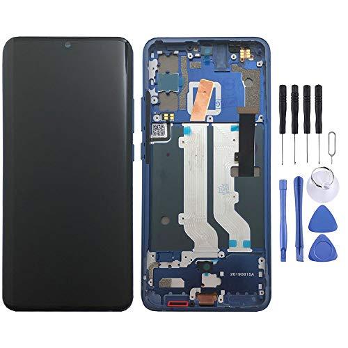 Wigento Für ZTE Axon 10 Pro Display Full OLED LCD Einheit Touch mit Rahmen Ersatzteil Reparatur Blau Neu