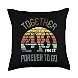 Best Marriage Anniversary Gifts - Family Apparel 48th Years Wedding Anniversary Gifts For Couples Matching 48 Throw Pillow, 18x18, Multicolor