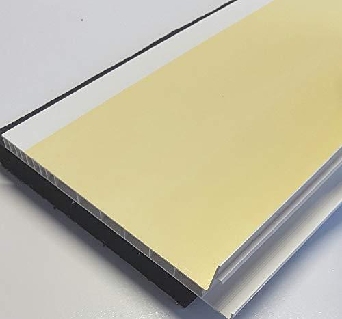 Menke Rollladendeckel Schallschutz mit Flex-Schaum & Schwerfolie 120 mm breit Rollladenkastendeckel Rollladendämmung (800 mm)