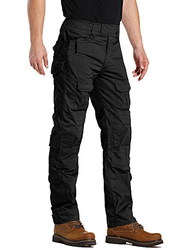 AKARMY Men's Military Tactical Casual Camouflage Multi-Pocket BDU Cargo Pants Trousers G3WF Black