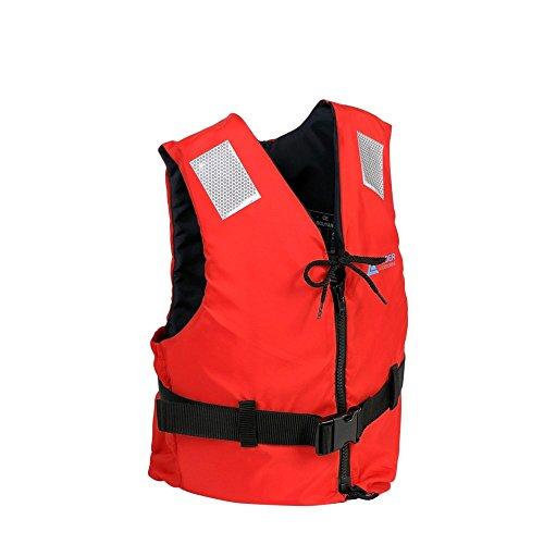Leader International Schwimmhilfe Erwachsene ISO 12402 CE-Kennzeichnung, Festtoffweste ideal für den Wassersport, Auftriebshilfe bis zu 50N(Rot L: 70-90kg)