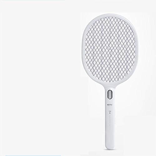 Ziyi elektrische Fliegenklatsche,Elektro fliegenklatsche Elektrische Mückenklatsche für den Haushalt,Leistungsanzeige,2500 V Spannung,lila LED-Licht induzieren Muster