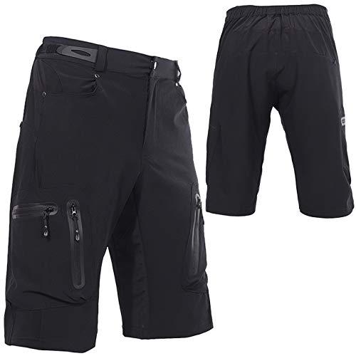 Culotte Ciclismo Hombre,Primavera y Verano Culotes Ciclismo Hombre, Transpirable Cómodo Pantalones Cortos de Ciclismo,para Correr Deportes al Aire Libre Pantalon Corto Montaña(Size:Metro,Color:Negro)