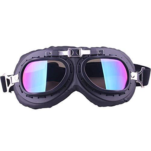 ZLININ Y-longhair - Gafas de ciclismo para hombre y mujer, gafas para montar en motocicleta, gafas para restaurar formas antiguas en bicicleta, deportes al aire libre (color negro, talla: talla libre)