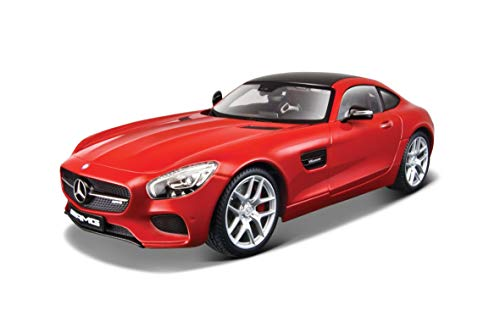 BBURAGO MAISTO FRANCE- Véhicule Mercedes AMG GT Exclusive 1/18, M38131 Rouge