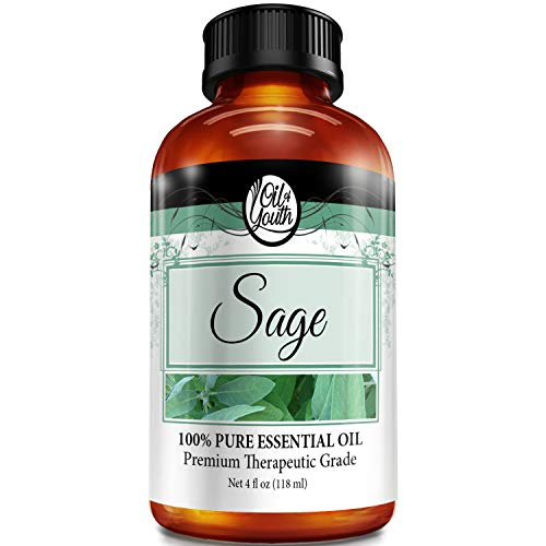 4oz Bulk Sage Essential Oil – Therapeutic Grade – Pure & Natural Sage Oil