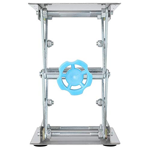Labor-Hubständer, 3,9-Zoll-manuell einstellbarer Laborheber Labor-Scherenheber aus Edelstahl Labor-Standtisch Labor-Hubplattform-Experimentierwerkzeug