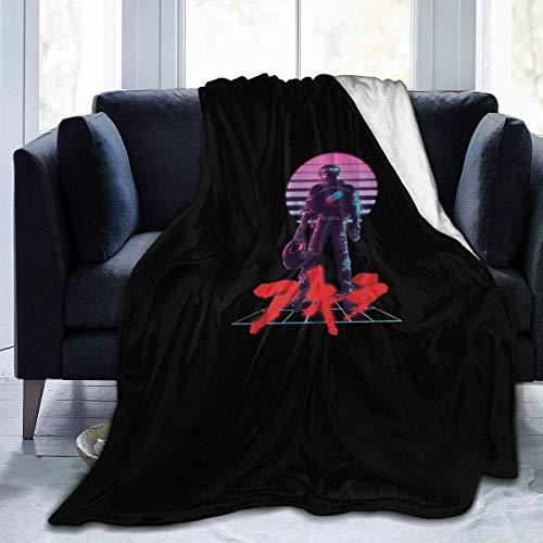 Akira – 80er-Jahre inspirierte Kaneda-Fleece-Überwurfdecke, weich und warm, Flanelldecke für Couch, Sofa, Bett, 152,4 x 127 cm