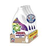 Ariel Detergente Lavadora Líquido, 160 Lavados (4 x 40), Color y Brillo
