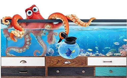 Tony plate 3D Foto Wandgemälde Bild Aquarium Oktopus Poster Junge Mädchen Schlafzimmer Kindergarten Tierhandlung Klassenzimmer Dekoration Wandbild Tapete-300Cmx210Cm(Lxh)