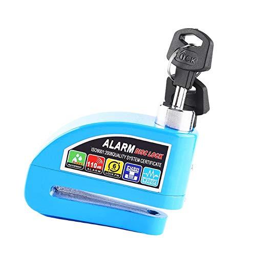 Bloqueo de freno de disco de motocicleta Bloqueo de disco, accesorios de bicicleta Sistema de alarma de seguridad Bloqueo de freno, para vehículos para bicicleta(green)