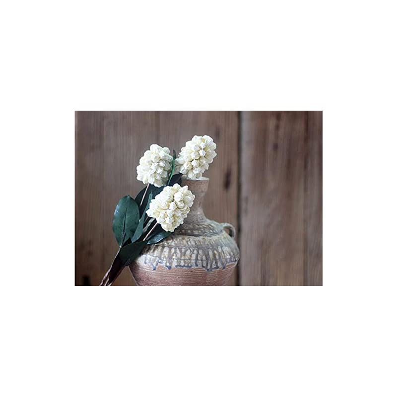 silk flower arrangements artificial and dried flower 5pcs white hyacinth dried flower for wedding party home hotel decoration bouquet project accessory