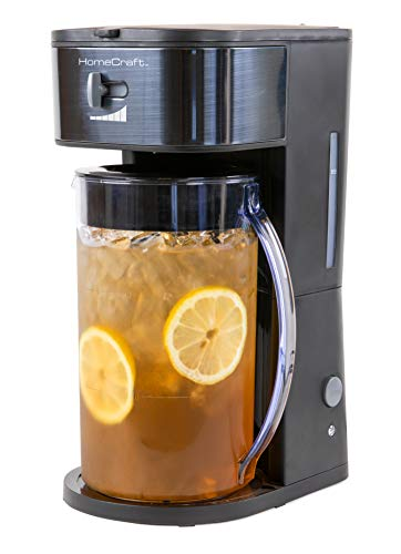 HomeCraft HCIT3BS 3-Quart Black Stainless Steel Café' Iced Tea And Iced Coffee Brewing System