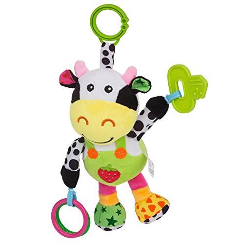 NUOBESTY Baby Hängen Rasseln Spielzeug Baby Autositz Kinderwagen Spielzeug Kinderbett Spielzeug Kuhform Kinderzimmer Handys Plüschtiere für Kleinkinder Kleinkinder