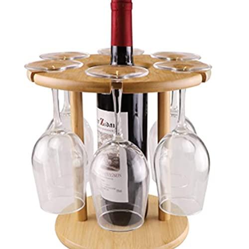 Estante de Cristal de Vino, Estante de Secado de vinos de bambú, Estante de Almacenamiento de vajillas Independiente, Estante de Copa de Vino al revés, Accesorios de Vino de Copa de hogar