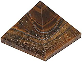 Spiritual Elementz Tiger Eye Pyramid (1'Inch) Stone of Protection & Harmony