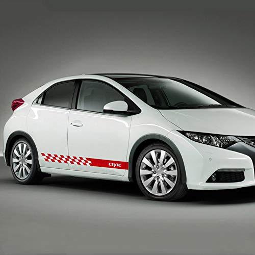 HLLebw Auto Seitenstreifen Seitenaufkleber Aufkleber, für Honda Civic Type R
