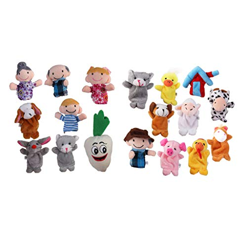 Harilla 18Pcs Style The Carrots & Old Macdonald Farm Puppets Kids Baby Aids Toy