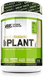 Optimum Nutrition ON 100% Plant Gold Standard. Proteína Vegana en Polvo. para Masa Muscular y Musculacion. fuente