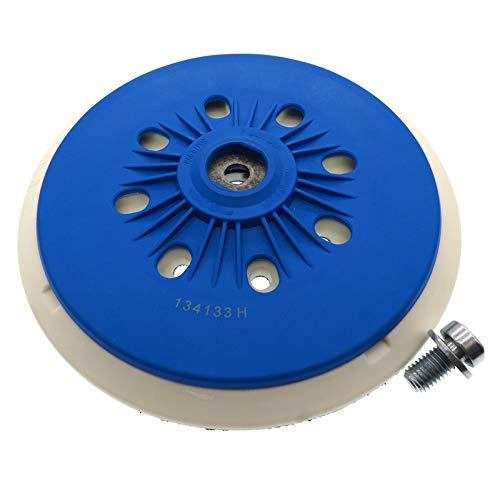 ZRNG 6 Pulgadas de 150 mm de 17 Huellas de 17 Orificios de Respaldo de la Plataforma de lijador de lijadora y Ajuste de Lazo para la Amoladora eléctrica Accesorios de Herramientas eléctricas