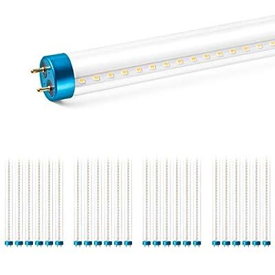 Hyperikon T8 LED Hybrid Light Tube 4ft, 18W, Plug-and-Play or Single-End Powered, Clear