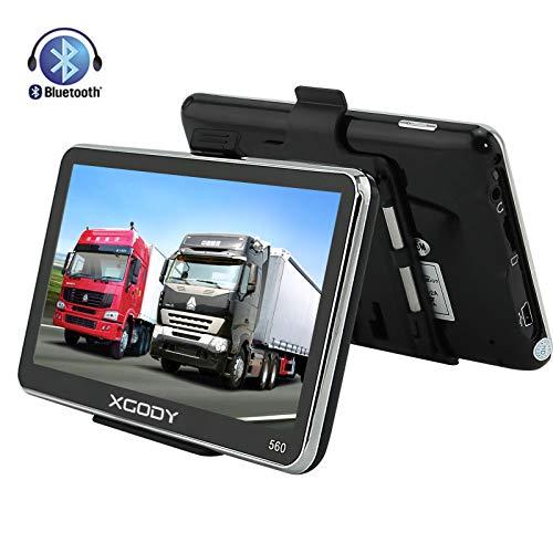 Xgody 560 Bluetooth-GPS-Navigationssystem, 12,7 cm (5 Zoll) Navigationsgerät, Touchscreen, integrierter 8 GB 128 MB RAM, FM, MP3, MP4, lebenslange Karten-Navigator mit Sonnenschutz (560BT+SC)
