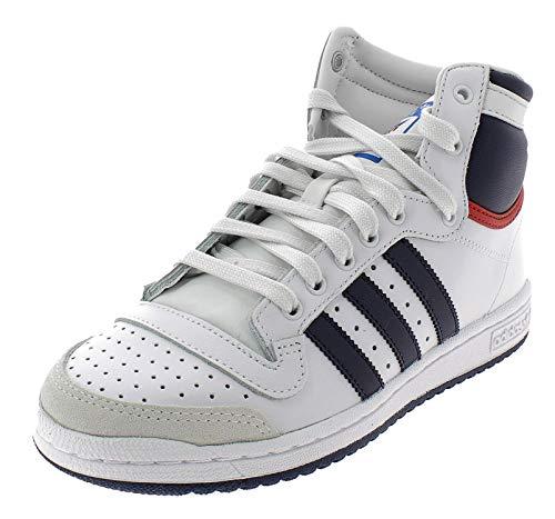 adidas Top Ten Hi, Scarpe a Collo Alto Uomo, Bianco (Weiß (Neo White S08/New Navy FTW/Collegiate Red), 40
