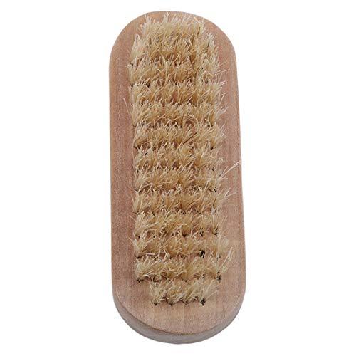 Sperrins Brosses basses Brosse à ongles Poignée en bambou pure à double face en soies naturelles de première qualité