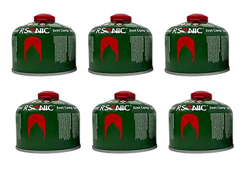 Clearfee Set | 230g Schraubventilkartusche + Lötbrenner Aufsatz für Schraubventil-Gaskartuschen | Bunsenbrenner | Butan Gaskartusche EN417| (6x 230g Gaskartusche)