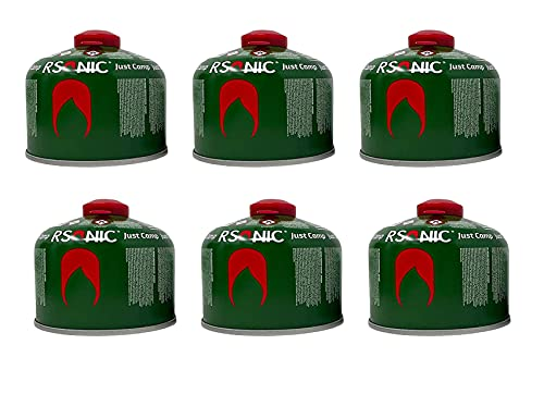 Clearfee Set | 230 g de cartucho de válvula de rosca + quemador de soldadura para cartuchos de gas con válvula de rosca | Quemador Bunsen | Cartucho de gas butano EN417| (6 cartuchos de gas de 230 g)