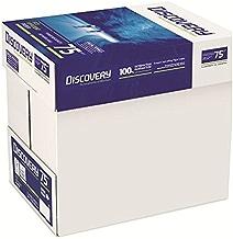 Discovery Carta Eco-Efficiente a Ottima Macinabilità, Grammatura da 70 g/mq a 75 g/mq, Bianco, Confezione 5 x 500 fogli