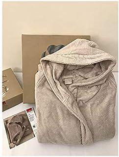 GABEL - Gabel Naturae - Albornoz con capucha. Fuentes de rizo de color liso algodón retorto - gris 567, XL