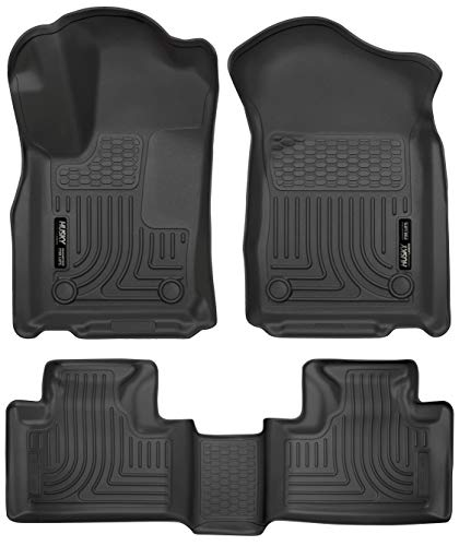 Husky Liners 99151 Black Weatherbeater Front & 2nd Seat Floor Liners Fits 2016-2019 Dodge Durango, 2016-2019 Jeep Grand Cherokee